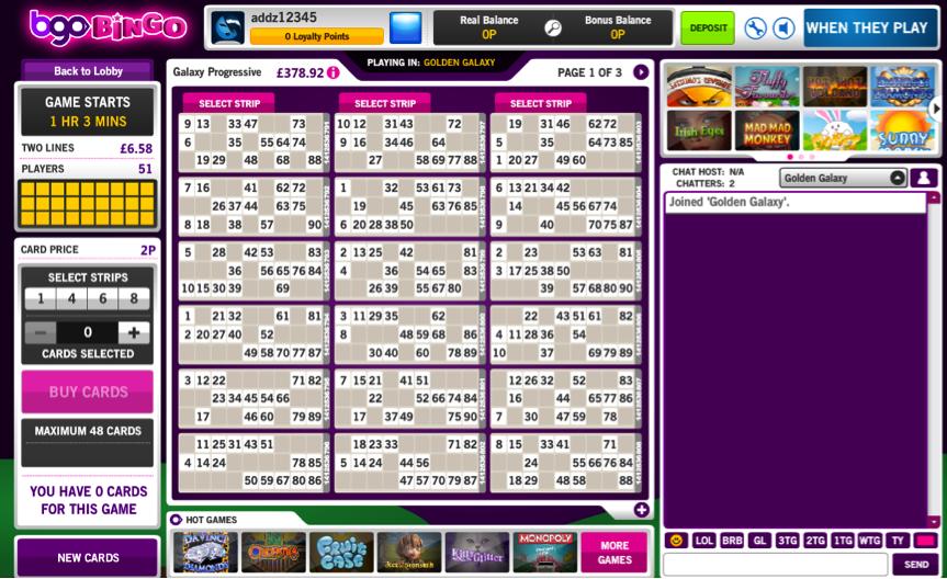 BGO Bingo Lobby