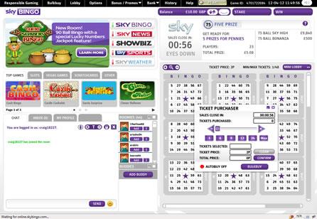 Sky Bingo Lobby