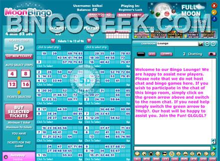 Moon Bingo Lobby